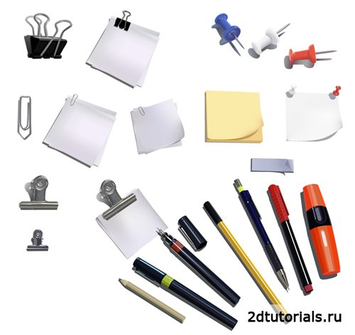 HQ Vector Office Objects