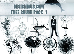 Набор кистей: Free designious Photoshop brushes